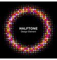 Colorful Bright Abstract Halftone Circle vector image