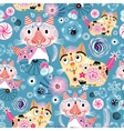 Bright pattern of the cats vector image