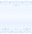 lace border on blue background vector image