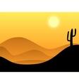 desert background vector image vector image