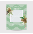 Baby Arrival Card with Photo Frame - Winter Theme vector image