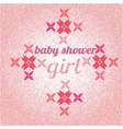 Baby shower for girl pink pastel tones vector image
