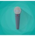 Grey metallic microphone vector image