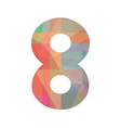 Colorful number eight vector image