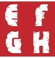 EFGH grunge letters vector image
