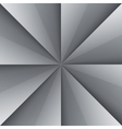 Gray and white shiny folded paper triangles vector image