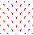 lobster pattern seamless vector image