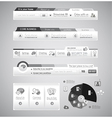 Quality web elements with infographic vector image