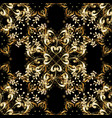 vintage seamless pattern on a black colors with vector image
