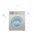 washing machine in flat style modern vector image