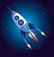 rocket flying in sky vector image