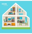 House inside furnishing ideas icon poster vector image