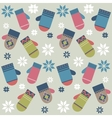 Background with mittens vector image