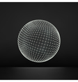 3d Sphere Global Digital Connections Technology vector image