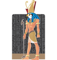 Gor on dark Egypt background vector image vector image