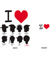 Abstract fashion love shirt design vector image