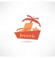 Beach icon vector image