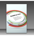 Folder template with round colorful design element vector image