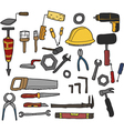 tools hand drawn vector image
