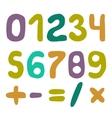Handwritten Numbers Set vector image