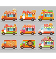 Set of food truck vector image