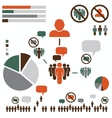 politic infographic vector image