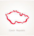 Czech republic - outline map vector image