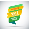 Advertising banner Incredible sale Each second vector image