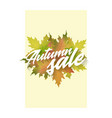 autumn sale template of poster applicable vector image
