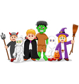 cartoon halloween set character vector image