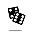 dice icon black silhouette on white background vector image