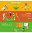 Sporting paintings vector image