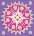 Violet star-Magic mandala print vector image