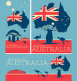 welcome to australia vintage poster set vector image