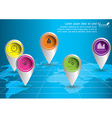 Location Map infographics design EPS 10 vector image