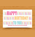 happy birthday background with colorful candle vector image