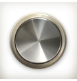 Metal button detailed icon vector image