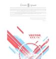 Geometry grunge tech minimal design vector image vector image