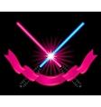 crossed light sabers vector image