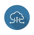 Online Cloud Solutions Flat Design Icon Long vector image