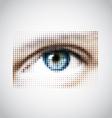 human eye halftone pattern vector image