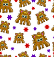 Seamless pattern with cute monster-2 vector image