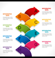 creative colorful arrow info-graphics design vector image