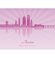 Austin skyline in purple radiant orchid vector image vector image