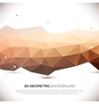 Abstract 3D geometric background vector image
