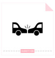 accident silhouette black and white icon vector image