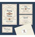 Art Deco Letterpress Wedding Invitation Design vector image