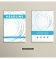 Book cover with abstract colored lines and circles vector image