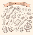 Doodle baking collection vector image