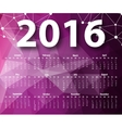 Elegant template for 2016 calendar vector image